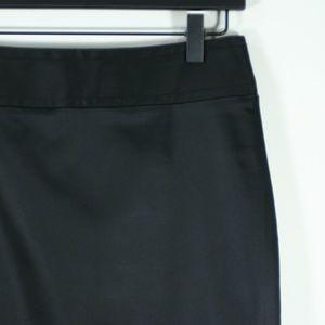 WHBM Black Satin Pencil Skirt